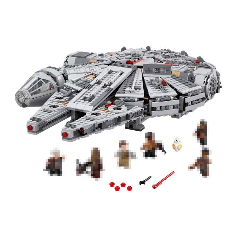 1381pcs Lepin 05007 Star War Building Blocks Force Awakens Millennium Falcon Rey BB-8 10467 compatiable 05030 toys Gifts lepin 05007 stars series war 1381pcs force awakens millennium toys falcon diy set model building kits blocks bricks children toy