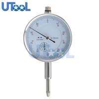 Chrome Plated Round Dial Indicator Measure Range 0 10mm Dialgage