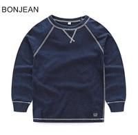 free shipping 2018 children's causal shirt boy's long sleeved t shirt cotton boys shirts 255427
