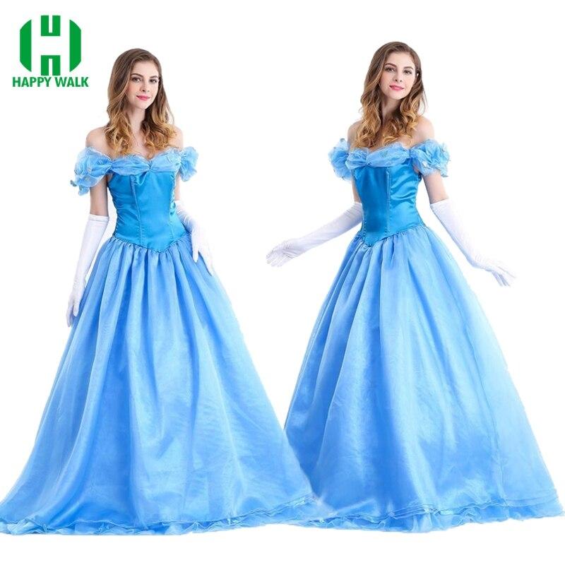 Costumes de princesse cendrillon adulte sur mesure pour femmes robe de soirée Halloween Costumes Cosplay