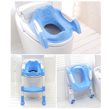 Non-slip Baby Potty Training Seat Children's Folding Baby Potty Infant Kids Toilet with Adjustable Ladder baby toilet seat folding children toddler potty toilet chair trainer with safety adjustable ladder step stools toilet training