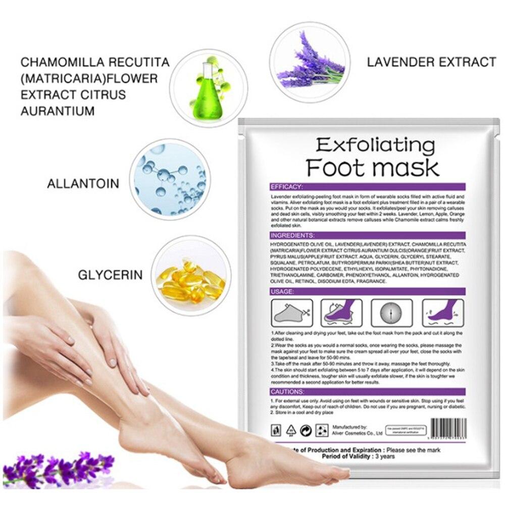 2pcs/bag Lavender Moisturizing Foot Mask Foot Film Exfoliation White Remove Dead Skin Mask Foot Care Tool Rose Chamomile TSLM2 2