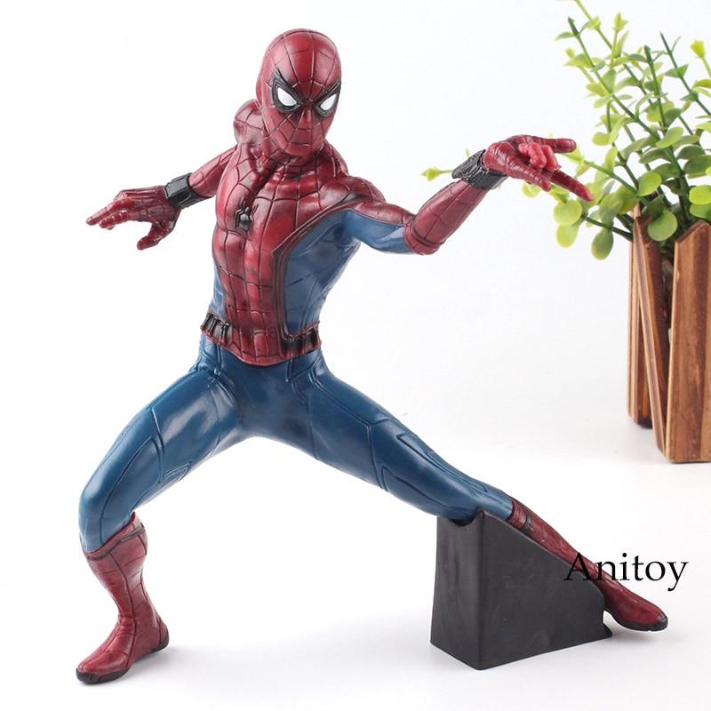 Marvel Figure Spider-Man Homecoming Spiderman Action Figure Classic Ver. Banpresto Toy 19cm