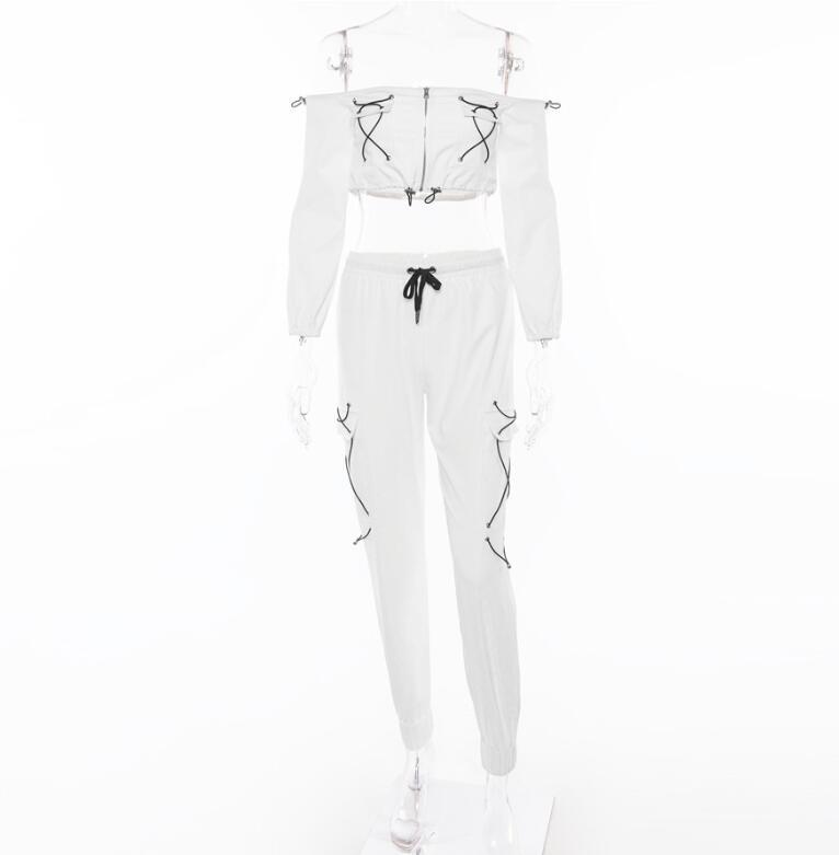 Spring 2018 Casaul Tracksuit Women 2 Piece Set Top And Pants Satin Striped Patchwork Zipper Sexy Sweatshirt Sweat Suit