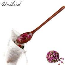 Unibird 1 шт. Длинная Деревянная Ручка кофейная ложка Кухонная чайная медовая ложка десертные столовые приборы столовая посуда 23,5x4 см обеденный инструмент подарок