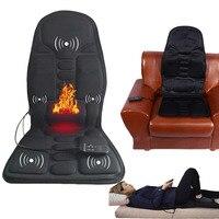 Home car massager electric back Massage Chair Seat Vibrator Back Neck massagem Cushion Heat Pad For leg Waist Body Massager