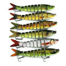 13 6cm 18 7g 8 Segments Swimbait Fishing Lures Hook Wobbler Isca Artificial Para Pesca Leurre