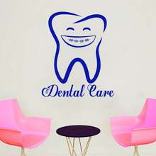Dental clinic oral care wall sticker waterproof vinyl glass decal Decorative decals for reception desk of dental 589