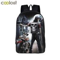 Grim Reaper Skull Backpack For Teenagers Nightmare Punk Men Women Travel Bags Boys Girls School Backpack