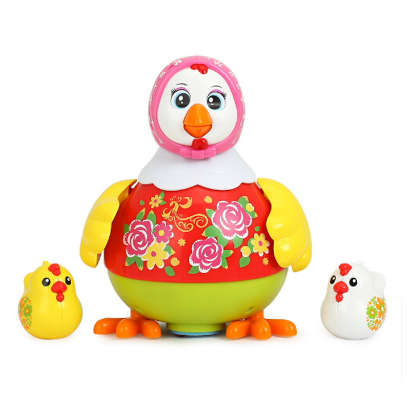 Baby Children Toys Electric Pet Toys Funny Chicken Toys Animal Hens Lay Eggs Singing Dancing Toy For Kids Birthday Gift image