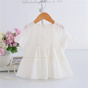 Wholesale 5pcs/lot Baby Girl Dress lace infant baptism birthday party Dresses Toddler Girls Clothes purple white 0-2T