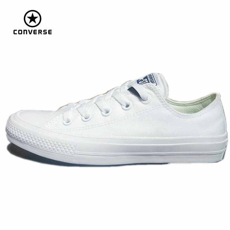 b8aa703ad Converse Chuck Taylor II 2016 новинка All Star унисекс низкие кроссовки  парусиновая обувь Классические однотонные обувь