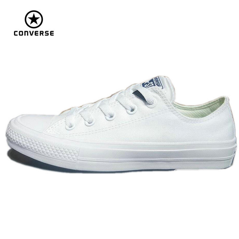 Converse Chuck Taylor II  2016 new All Star unisex low sneakers canvas shoes Classic pure color Skateboarding Shoes 150154C слиперы chuck taylor all star cove converse