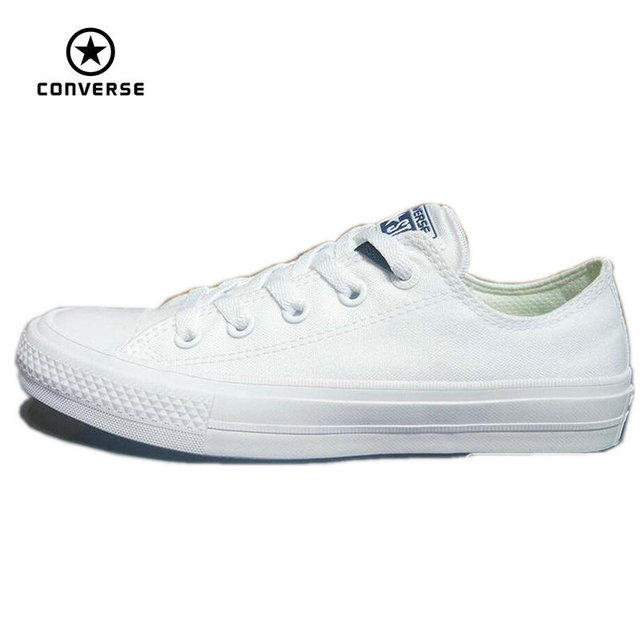 2a46d21fe8d Converse Chuck Taylor II 2016 new All Star unisex low sneakers canvas shoes  Classic pure color Skateboarding Shoes 150154C