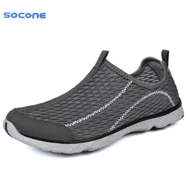 5f1488bfed SOCONE nuevo deporte Simple hombre zapatillas verano primavera transpirable  aire malla niño zapatillas de correr luz