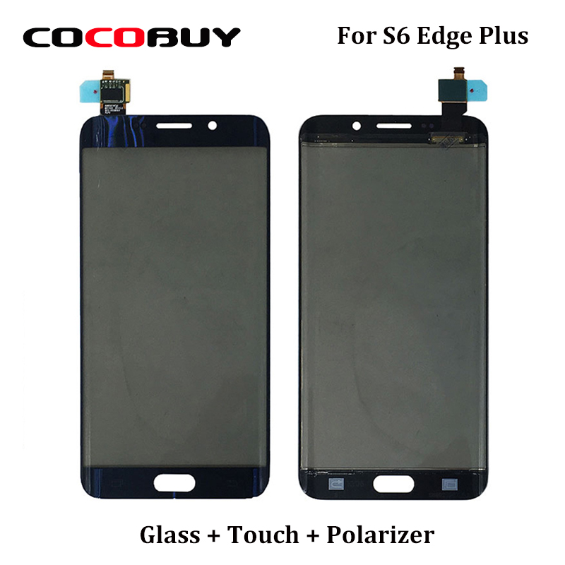Novecel G928F Touch Panel Screen Digitizer Front Glass with Touch Flex Cable + Polarizer Film For Samsung S6 edge+ replacement 6av2 144 8mc10 0aa0 touch glass with film