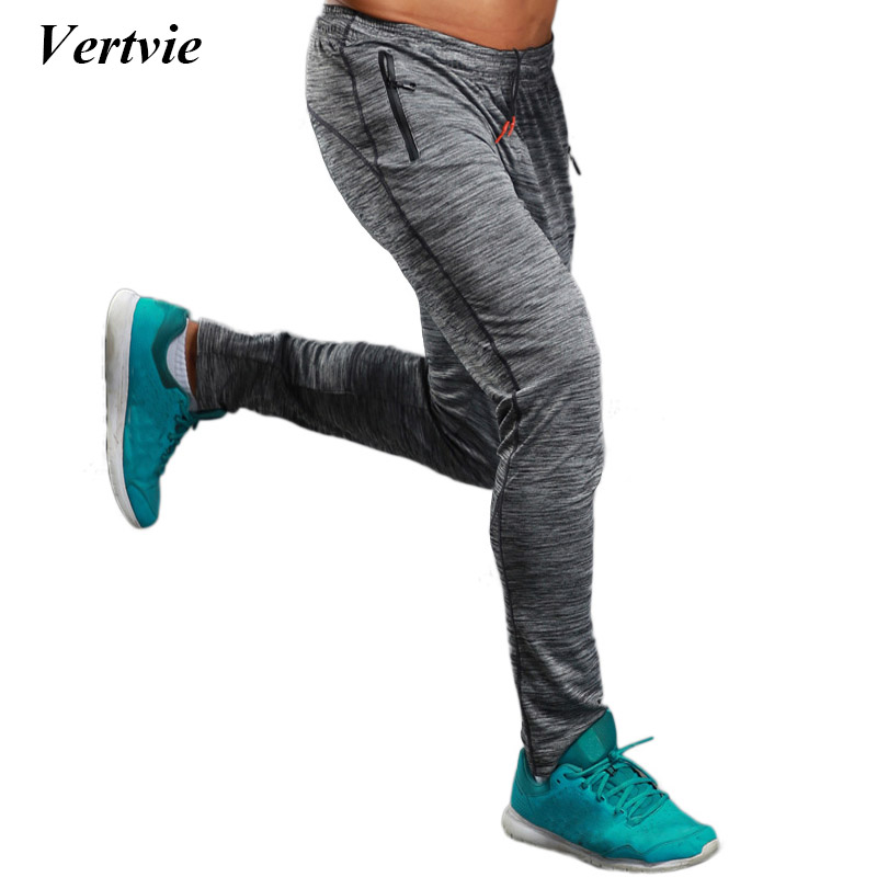 Vertvie Brand Running Sports Pants Men Breathable Gym Training Pants Grey Drawstring Workout Pants Jpgging Trousers Sportswear