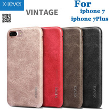 X-Level Case Cover For iPhone 7/ 7 Plus Retro Vintage X Level Leather Back Protective Shell For iPhone 7 Plus