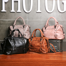Newest style designer women handbags pink black grey brown casual office party artifical leather qua
