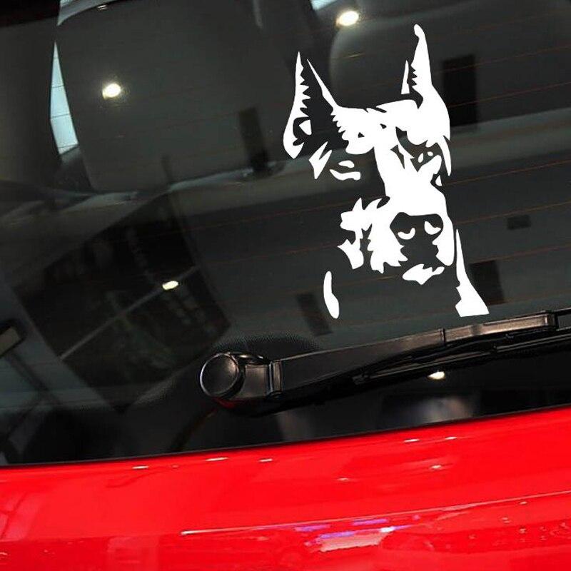 Car Styling 14 9cm Car Window Dog Decal Stickers