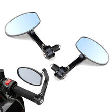 "BLACK 7/8"" CNC ALUMINUM HANDLE BAR END MIRRORS FOR DUCATI MONSTER S2R 620 695 696 796 1100/ STREET SPORTS BIKE"