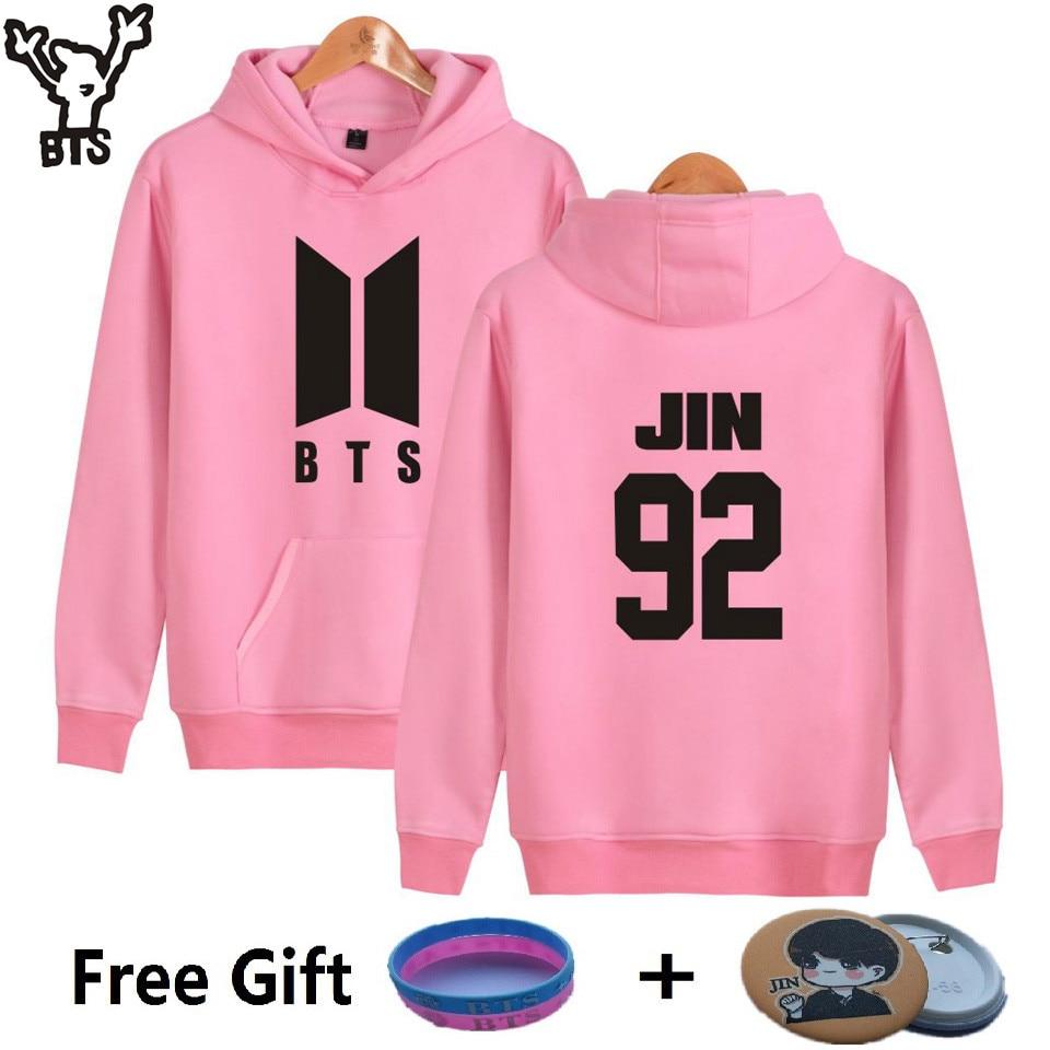 BTS Kpop Hooded Harajuku Hoodies Women Popular Bangtan K-pop Sweatshirt Women Korean Popular Hip Hop Casual Female Fans Clothes