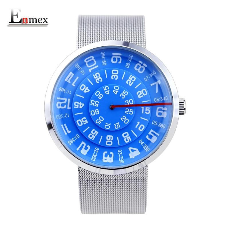 2016 Enmex neutral special design wristwatch digital era waterproof creative simple design fashion quartz unisex font