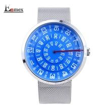 2016 diseño especial reloj Enmex neutral era digital creativo impermeable simple de diseño de moda de cuarzo relojes unisex