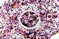 RHM321-248 Colores de La Mezcla Mezclar Colores formas de Punto redondo Del Brillo para el arte del clavo, uñas de gel, esmalte de uñas maquillaje y la decoración de DIY