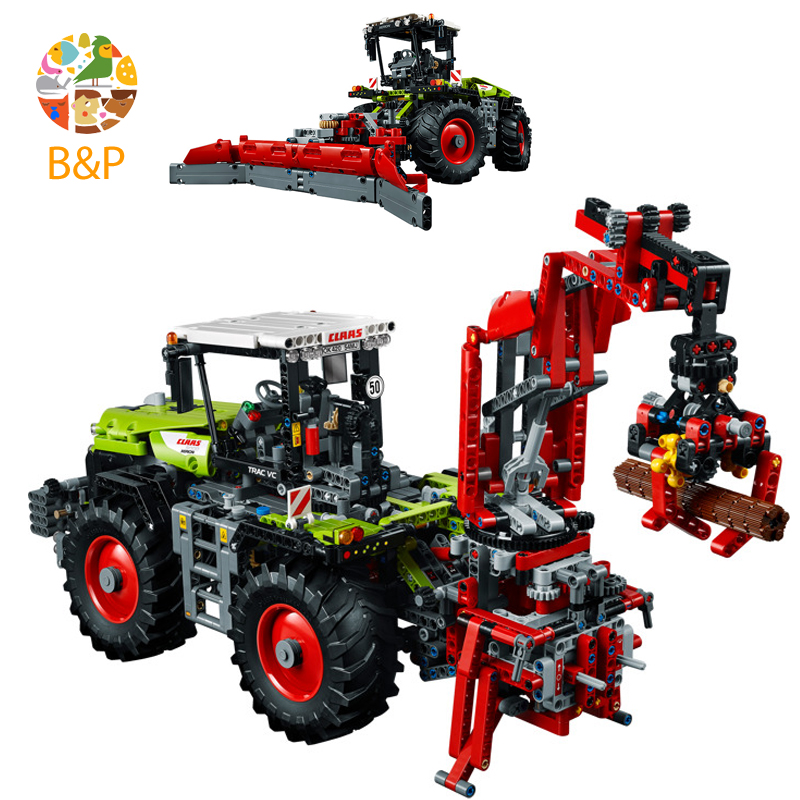 Legoing 42054 1977Pcs Technic Series Mechanical Heavy Tractor Model Set Building Blocks Bricks Gifts Toys compatible LEPIN 20009 lepin 20009 1977pcs technic series the tractor model building blocks bricks compatible with 42054 boy s favourite