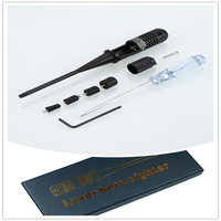 Calibrator Laser Light Bore Sighter Adjustable Adapters For 0 22 0 50 Caliber Scope Handgun Rifles