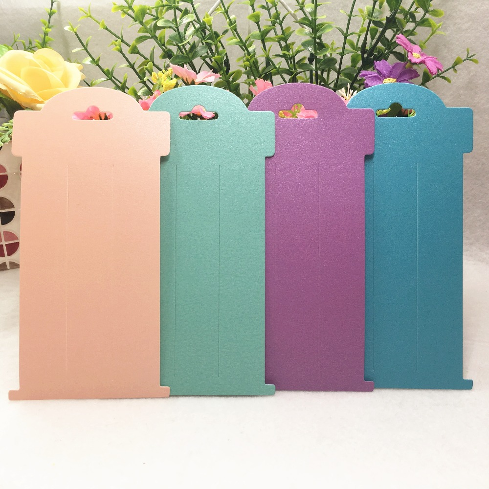 50 Pcs/lot 16x8cm Jewelry Paper Cards Fashion Headwear Card Nice Jewelry Hair Clips Brooch Display Packaging Cards