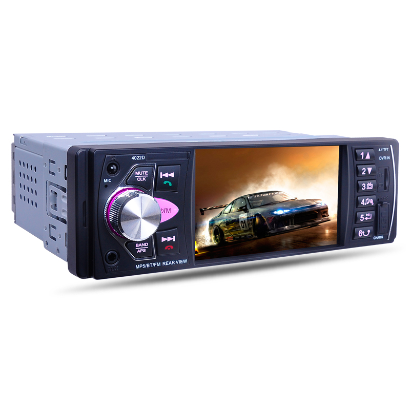 4022D 4.1 pouces 1 din Voiture Multimédia MP5 lecteur vidéo Auto radio stéréo Arrière Vue Caméra FM Bluetooth