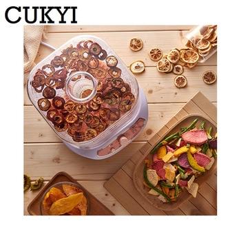 CUKYI Kurutulmuş Meyve Sebze Herb Et Makinesi Ev MINI Gıda Kurutucu Pet Et Susuz 3/5 Tepsileri Aperatifler Hava Kurutucu AB