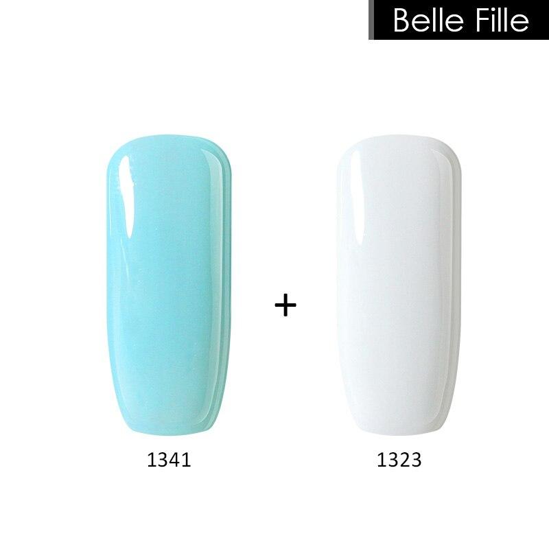 Belle Fille Lak Manikúra Nehty UV Gely LED Namočte Nehty Gel - Manikúra