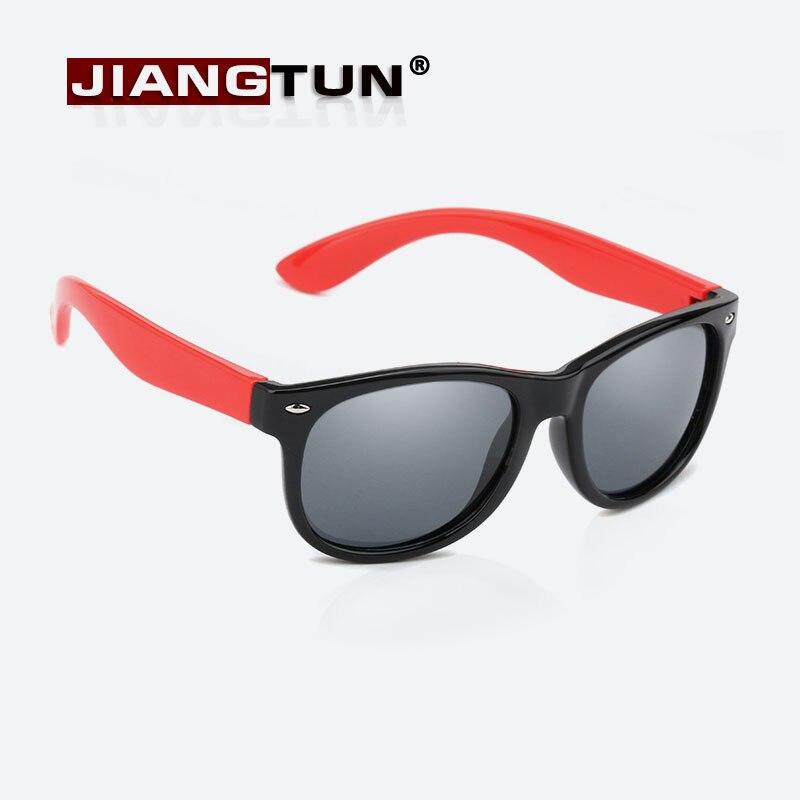 b61714b2b3629 JIANGTUN 12 Cor Crianças Meninos Projeto Da Menina Filhos Adoráveis Óculos  de Segurança Óculos De Sol Da Marca Polarizado Proteção UV Oculos Infantil