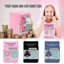 ATM 자동 롤 돈 돼지 저금통 전자 돼지 은행 ATM 비밀 번호 돈 상자 현금 동전 저장 상자 은행 안전 어린이 # T