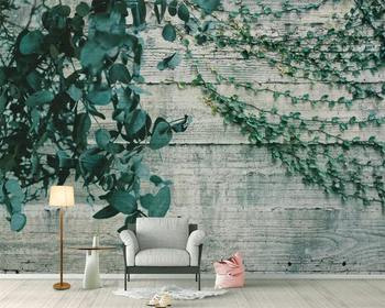 Beibehang Custom wallpaper garden wind plant vine leaves wooden wall background living room bedroom TV background 3d wallpaper photo wallpaper europe the united states wind retro old wooden box tv wall custom living room bedroom wallpaper mural