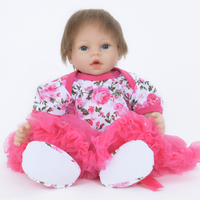 22 55 cm Reborn Lifelike Soft Cloth Body Baby Dolls Early Education Limited Collection Doll Xmas Gift