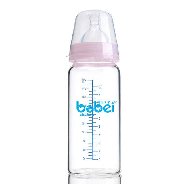 300 ml frasco de borosilicato quente cute baby-alimentados com as crianças a aprender crianças alimentados com mamadeira beber garrafas de vidro copo de treinamento