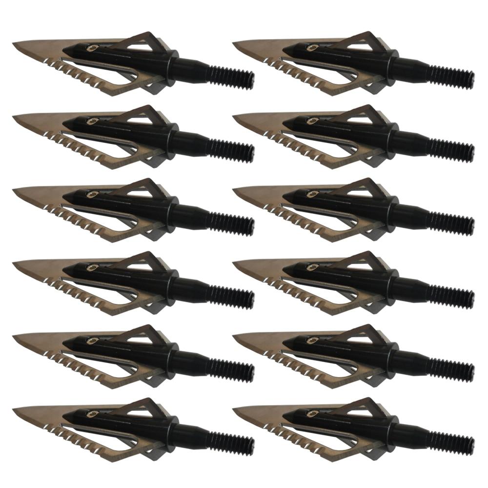 12PCs Jakt Stinger Broadheads 4 Blade 100Grains 2 Sawtooth Blade for - Jakt - Foto 4