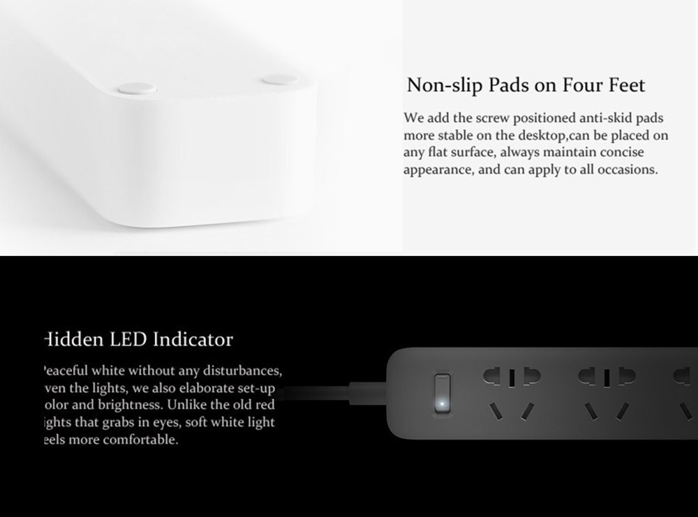 Original Xiaomi Mi Smart Power Socket Portable Strip Plug Adapter with 3 USB Port Multifunctional Smart Home Electronics (12)