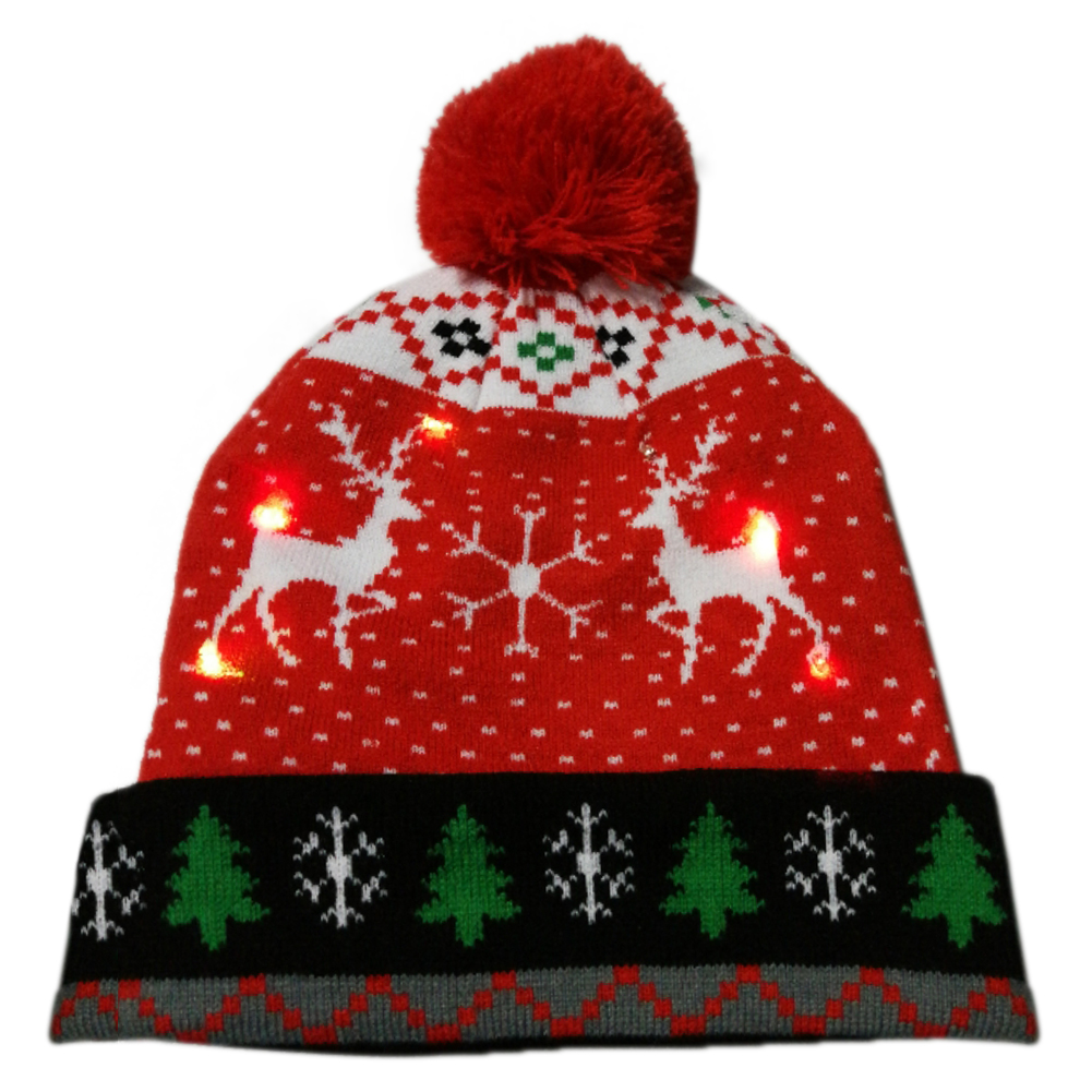 Г., 43 дизайна, светодиодный Рождественский головной убор, Шапка-бини, Рождественский Санта-светильник, вязаная шапка для детей и взрослых, для рождественской вечеринки