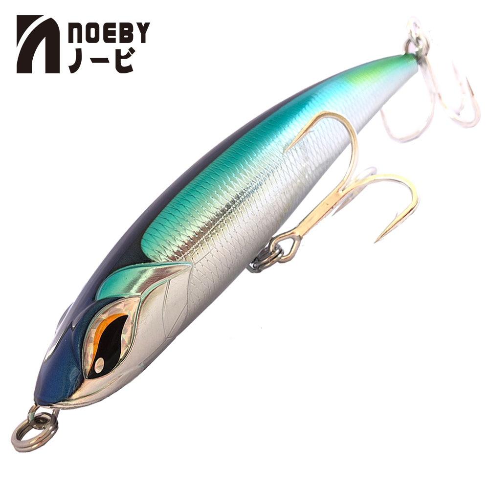 2019 New Arrival NOEBY NBL9493 115mm/150mm/185mm Lápis Lure VMC Gancho Wobbler Isca Dura baixo carpa Isca Artificial Parágrafo Pesca