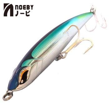 2019 nova chegada noeby nbl9493 115mm/150mm/185mm lápis lure vmc gancho wobbler duro isca carpa baixo isca artificial para pesca