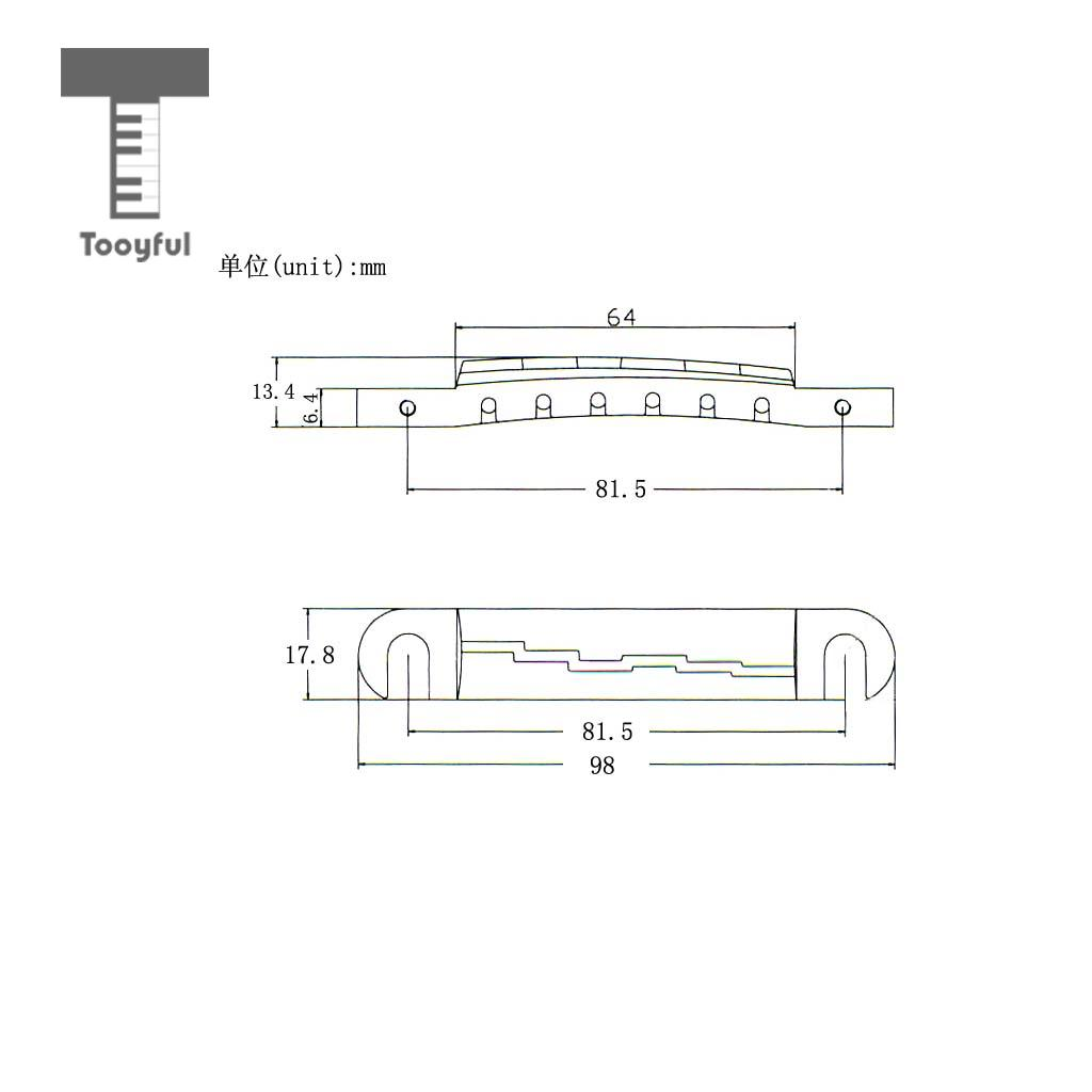 Tooyful Compensated Wraparound Bridge Tailpiece With Studs For Lp Diagram Of Guitar Parts Style Accessories