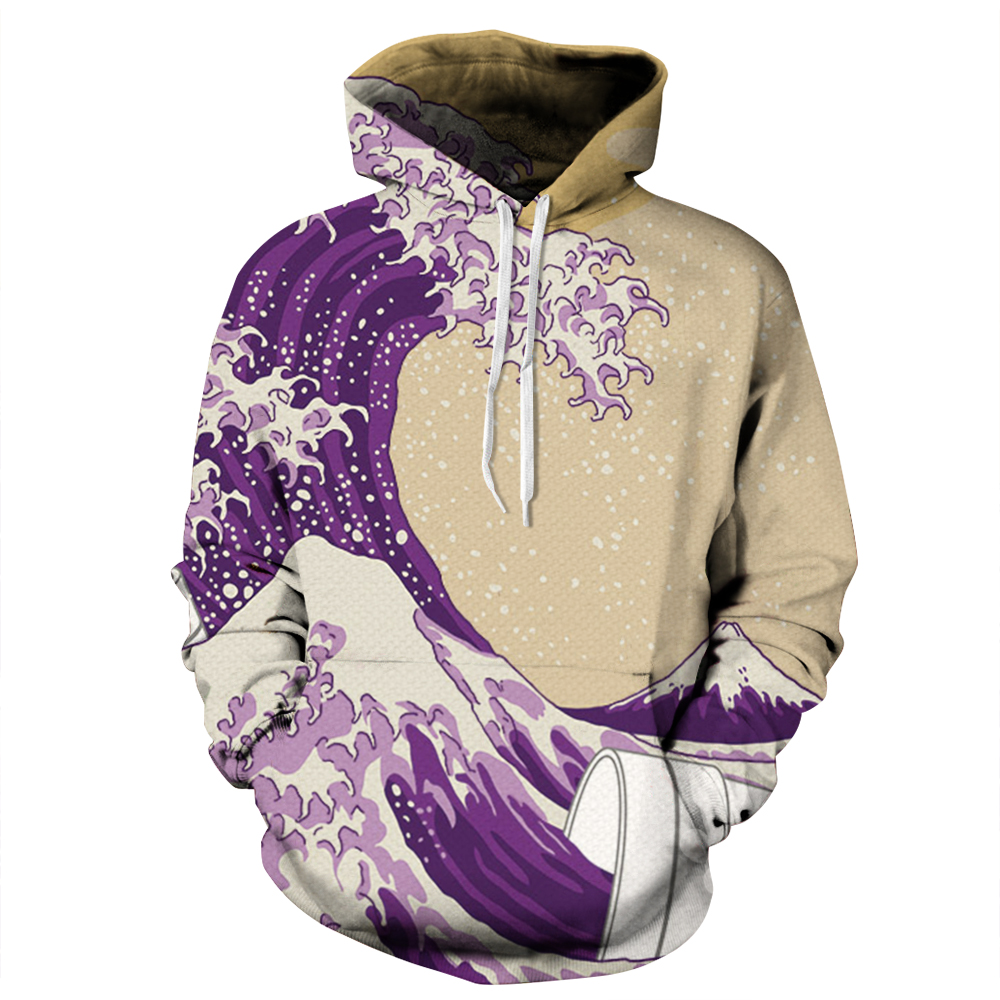 Harajuku Hip Hop Loose Hooded sweatshirts 3D print Men Women Do the old Streetwear Hoodies Autumn plus size Coat Outerwear