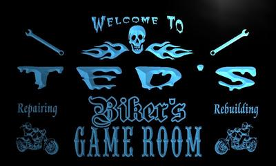 x0243-tm Teds Garage Game Room Custom Personalized Name Neon Sign Wholesale Dropshipping On/Off Switch 7 Colors DHL