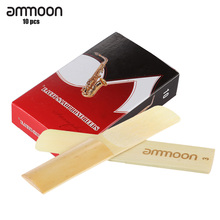 ammoon 10-pack Pieces Strength 3.0 Bamboo Reeds for Eb Alto