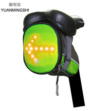 цена на YUANMINGSHI Cycling Bicycle LED Safety Saddle Backpack Bag LED Turn Signal Light Reflective Vest Bag for Safety Night Cycling